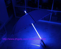 Plastic automatic flashing - 10pcs Cool Blade Runner Light Saber LED Flash Light Umbrella rose umbrella bottle umbrella Flashlight Night Walkers