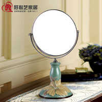 american vanities - European and American style rural countryside desktop portable makeup mirror vanity mirror beauty mirror Princess double sided B