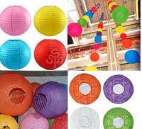 New Lantern Lumières Paper Chinese Lantern 11 couleurs avec 25cm de mariage Hanging Lanternes Blanc Rouge POP