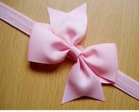 Wholesale 12Color Infant Rib belt Bow Headbands Baby Headband Baby Barrettes Baby Hair Band Kids Head Accessories