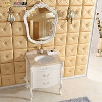 Wholesale Ze faction antique ivory combination bathroom cabinets European bathroom cabinet combination bathroom cabinet bathroom vanity