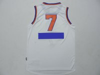 basketball uniforms - 2015 Christmas Day Jerseys White Carmelo Anthony Jersey Hot Sale Basketball Wears Men s Jerseys Teams Uniforms Embroidered Name Number