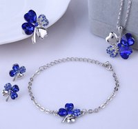 asian cover - Hot Fashion Summer Style Silver Plated Lucky Covers Necklace Austrian Crystal Necklace Earring Bracelet Rings Jewelry Set ZQ