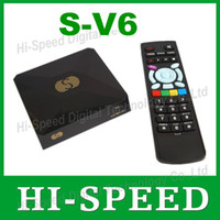 Cheap 20PCS Original S-V6 Mini Digital Satellite Receiver Openbox v6s S-V6 with AV HDMI output 2xUSB WEB TV USB Wifi Biss Key Youporn CCCAMD