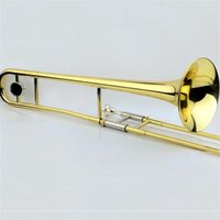 Wholesale JINBAO Professional Alto Trombone B Flat Gold Lacquer brass trombone musical instruments JBSL M700 Gold Silver two colors