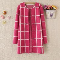 winter sweater for women - Autumn and Winter New Fashion for Girl Women s Sweater Loose Plaid Plus Size Long Cardigan Sweater dq227