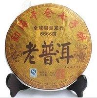 al por mayor materiales orgánicos naturales-puer del té maduro de material 2001 Yunnan Menghai viejo árbol, 357g de Puerh PU er Pu'er mfood natural orgánico, comercio al por mayor de té