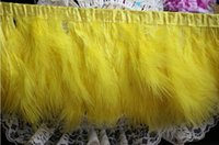 goose feathers - 11yard inche Latest Cheap Feathers Yellow Color Feather Ribbon for Party and Wedding Decoration Feathers Goose Feathers