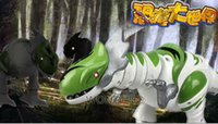 Wholesale large Dinosaur rex with sound light electric animal battery power Assemble for child kids dinosaur boy gift