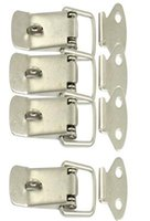 Wholesale 4 Set Hardware Cabinet Boxes Spring Loaded Latch Catch Toggle Hasp