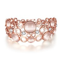 beautiful czech women - Bracelets for women Beautiful design Korean fashion jewelry rose gold plated opal and Czech drill charm bracelets Daily gift and party