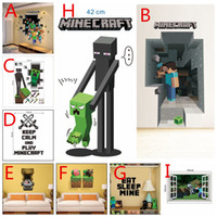 Wholesale 2015 D Minecraft wall stickers models home decorative Decals MC wallpaper eco friendly creeper house sticker J030502