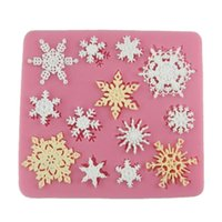 Wholesale cooking tools snowflake Silicone Fondant Paste Mold DIY Cake Decoration Polymer Clay Resin Candy Fimo Sculpey