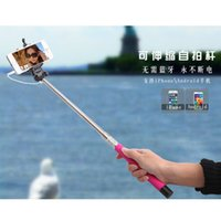 Wholesale Groove Z07 S Extendable Handheld Monopod Audio cable wired Selfie Stick take photos for IOS Android smart phone