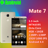 "Cheap Hot sale 1:1 Original 5.5"" huawei Mate 7 Unlocked 4G LTE phone Android 4.4 MTK6592 Octa Core mobile 4GB RAM 16G ROM 13MP mate huawei Cheap"