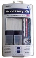 Al por mayor-para Nintendo NDSL stylus / cassette paño cuadro / limpieza / Correa de mano / película 9 en 1 kit