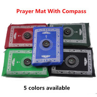 Wholesale 5pcs Islamic gift polyester travel pocket prayer mat muslim prayer rugs praying prayer carpet