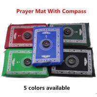 Wholesale 5pcs Islamic gift polyester travel pocket prayer mat muslim prayer rugs praying prayer carpet