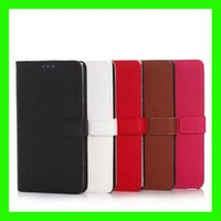 Wholesale For Samsung Galaxy Note Edge N9150 Litchi Skin Leather Book Card Wallet Holder Flip Cover Stand Hard Plastic Case Phone Cases