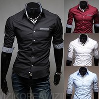 dress shirt for men - new spring fashion men s business shirts half seelves slim fit dress shirts for men