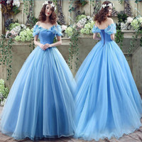 art butterfly pictures - Cinderella Quinceanera Dresses Sky Blue Ball Gown Formal Wedding Gowns With Butterfly Faerie Applique Off Shouder Lace Up Back