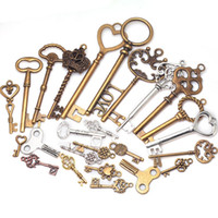 Wholesale Mixed Keys charms Vintage Metal Zinc Alloy Fine Trendy Mixed Pendant Charms Making K0001