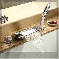Wholesale new arrival Luxurious Chrome Finish piece Bathtub Faucet Mixer Tap emergi