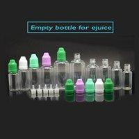 Cheap 50pcs Plastic e juice bottles pe pet e liquid bottle 10ml 20ml 30ml 50ml dropper bottles with colorful cap empty eliquid bottle for ecig