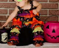 baby clohes - Baby Halloween Day Outfit Halloween Petti Romper With Ruffle Leg Warmer Set Photo Prop Baby Clohes