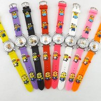 watch silicon gel - Minions Watches Despicable Me Cartoon D Quartz Wristwatches Silicon Gel Colorful Children Kids Boys Girls Wrist Watches Students Gifts