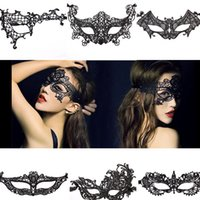 airsoft girls - 5x Masquerade Party Masks Cosplay Milee Girl Cut Black Airsoft Mask Lace Sexy Masquerade Masks For Women Halloween Mask Slipknot