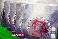 brake pads - BRAKCO Floating Disc Rotor quot Red Mountain Bike Disc Brake Rotor bike Bicycle parts MTB Brake pads