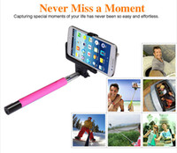 Wholesale Z07 Bluetooth Wireless Monopod Selfile Stick Handheld Mobile Phone Holder for Over ios android Bluetooth Handphone Shutter