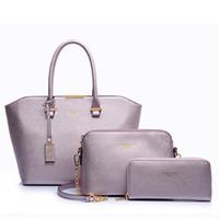 acrylic purse handles - 3PCS Composite Bags Women Handbag Shoulder Bag Vintage PU Crossbody Messenger Purse Hot Handle set Wallet Messager Handbags