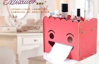 Wholesale DIY Creation Multifunction Home Tissue Box Smile Expression Face Paper Towel Storage Tissue Case