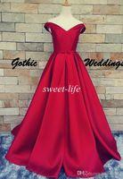 al por mayor bolas de la alfombra de la vendimia-Dark Red vestidos de baile Vestido de bola atractivo barato V-Neck Lace Up sin respaldo de la correa de 2016 del banquete de boda de la vendimia de noche Vestidos de la alfombra roja vestidos formales