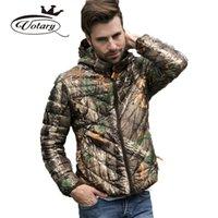 Wholesale New Brand Winter Jacket Men Hooded Slim Ultralight Camouflage Print Down Coat Warm Outdoor Sports Outerwear Parka WMF83