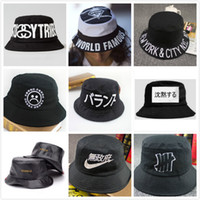 Wholesale New Couple Summer Casual Sun Protection Fishing Cap Letter Vintage Bucket Hat Hip Hop Sunbonnet Chapeau Bob Touea Women Man