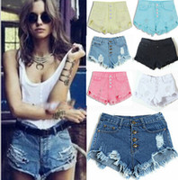 big cowgirl - Tassel High Waist Shorts Hole Cowgirl Blue Shorts Denim Shorts Big Size Feminino Shorts Jeans bermudas hight quality