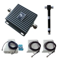 Wholesale 850 MHz CDMA GSM WCDMA dB Cell Phone Signal Repeater Amplifier Booster Panel and Log periodic Antennas with Black Cable