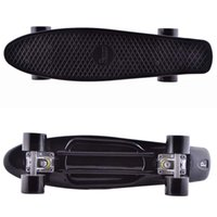 penny boards - 22 inch Black Decks Series Original Mini Long Board Penny Board Skateboard with Alu Alloy Trucks as Krismtas Gift for Kids