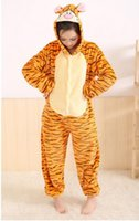 adult tigger pyjamas - 2014 New Lovely Cheap Orange Tigger Kigurumi Pajamas Anime Pyjamas Cosplay Costume Adult Unisex Onesie Dress Sleepwear
