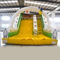 backyard equipment - AOQI wonderful equipment tiger shape inflatable standard slide indoor or outdoor inflatable hige slide for house decoration