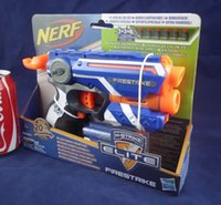 Wholesale Blue NERF N Strike Elite Firestrike inkl Elite Darts Nachfolger der Nite Finder Dart Gun Sidearm Classic Toy