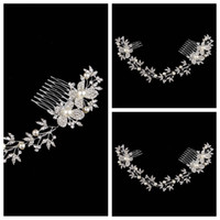 artificial plants china - Crystal Fascinators With Comb Bridal Butterfly Hair Accesories Artificial Fully Rhinestone Pearls Jewelry Prom Evening Headbands From China