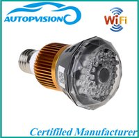 Wholesale Cmos Bulb Cctv Security Cameras - WIFI hidden Bulb dvr Camera HD 1080P P2P IP cam security CCTV Camera T77 IR light (white) or invisible light (black) In stock