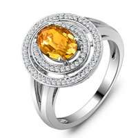 Cheap United States imported jewelry wholesale jewelry natural citrine sterling silver ring to propose the wedding RI101418
