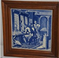 antique engravings - car Western antique engravings Dutch porcelain commemorative models with factory marking and signature
