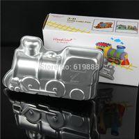 aluminum cupcake pans - 3D Train Shape Cake Pan Thomas Mold Large Cupcakes Bread Stencil Aluminum Bakeware Cake Tools B075