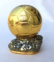 Wholesale Ballon d Or Football World Player of the Year Trophy Resin Golden Ball cm